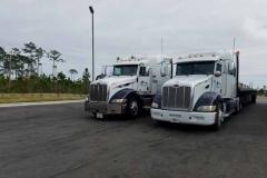 Peterbilts-at-Truck-stop